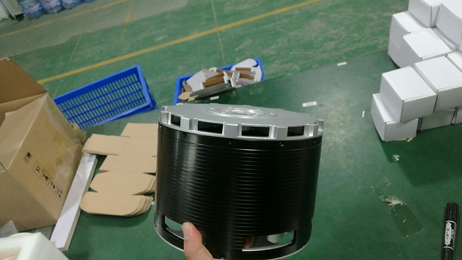MP154120 100KW brushless Halbach Array motor