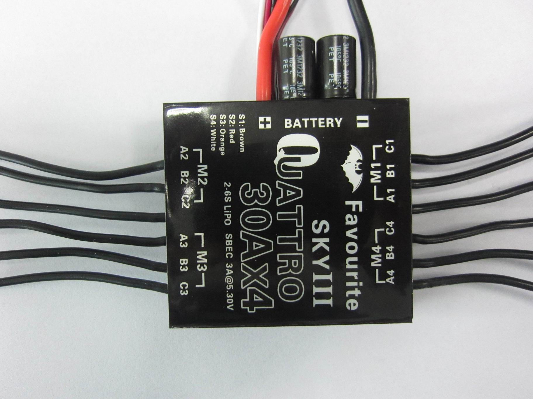 4-in-1 Multirotor ESC 30A x 4 2S-6S
