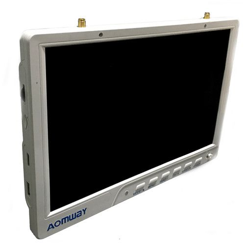 Aomway HD588 V2 10 Inch 5.8G 64CH Diversity FPV HD Monitor 1920 x1200 with DVR Build in Battery For RC drone