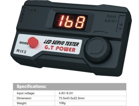 GT POWER RC Model LED Servo Tester