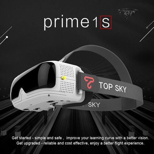 TOPSKY Prime 1S 5.8G 48CH 2.4 Inch FPV Goggles Diversity Receiver Built-In Battery DVR For RC Drone