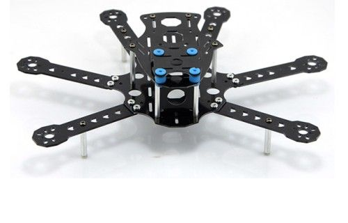 250mm 6-Axis Glassy Carbon FCM250 Hexacopter FPV Frame Kit w/Lan