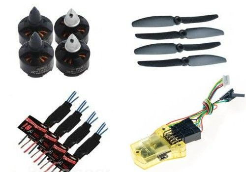 250-Quad LD-POWER MT2204 ESC 12A propeller 6030 MINICC3D COMBO