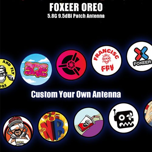 Foxeer Oreo 5.8G 120 Degree 9.5dBi High Gain Patch Antenna RHCP SMA For FPV Racing Drone DIY Parts PA1462