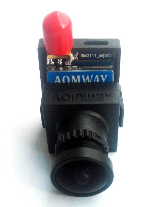 Mini 1/3 CMOS FPV Camera and Aomway Mini 200mW VTX Combo