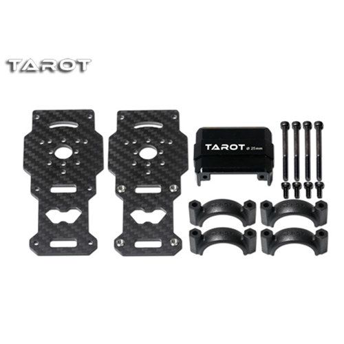 Tarot 25MM CF Motor Mount/Black