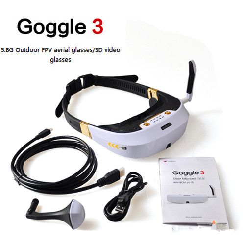 Walkera FPV Goggle 3 5.8G 32CH 360° 3D Video Glasses Goggles HDM