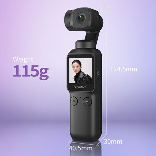 Feiyu Pocket Smart Compact 4K 6-axis Stabilized Handheld Cam