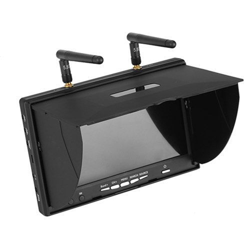7 inch FPV Diversity Monitor 5.8G 40 Channel (Built-in battery)