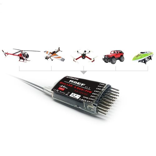 Radiolink R8EF 2.4G 8CH FHSS 8 Channels Receiver for T8FB T8S RC4GS Support S-BUS PPM PWM Signal