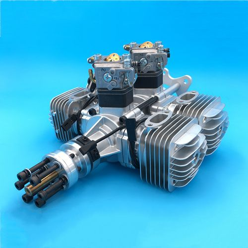 DLE120 T4 RC Airplane Gasoline Engine Power Four-Cylinder Two-Stroke Side Exhaust Natural Wind-Cooled 120CC Displacement