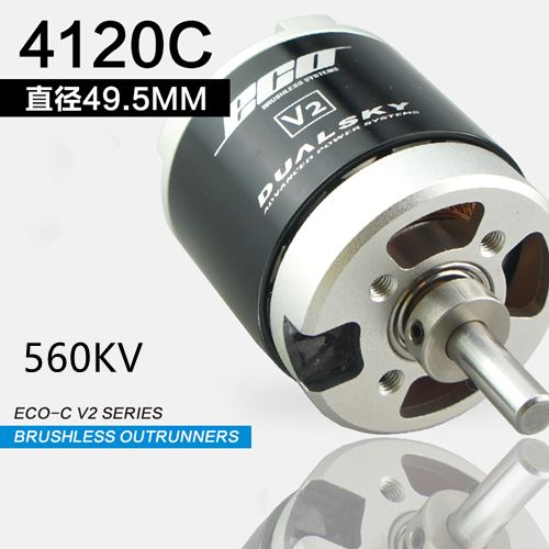 DUALSKY ECO 4120C-V2 560KV fixed-wing Brushless Motor applied to popular 70E F3A 3D models (2.6kg-3kg) for example EF70