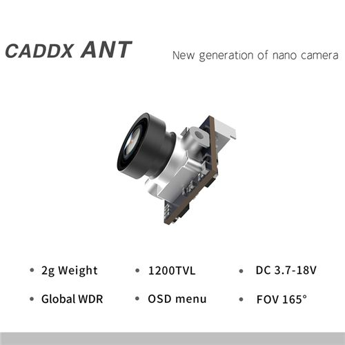 Caddx ANT 1200TVL Global WDR OSD 1.8mm Ultra Light FPV Nano Camera 16:9 for RC FPV Tinywhoop Cinewhoop Toothpick Mobula6