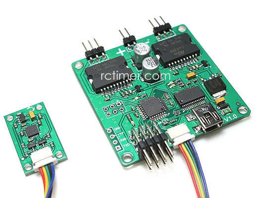 Brushless 2-Axis Gimbal controller board + sensor by Martinez