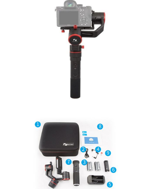 A1000 3-Axis Gimbal for DSLR Mirrorless Camera with Portable Bag
