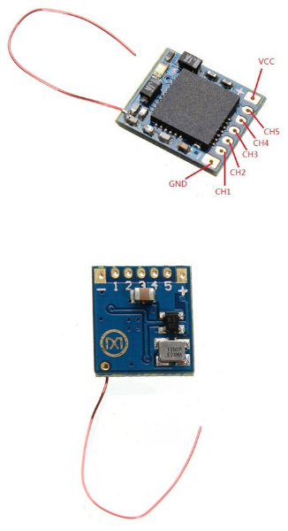 Micro 2.4G 5ch DSM2 Receiver with PPM Input Brush/Brushless Race