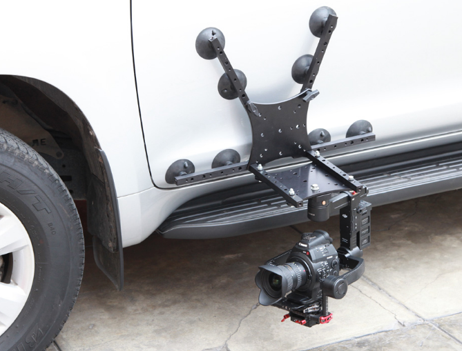 BGC Car Gimbal external Mounting plate with suction cups