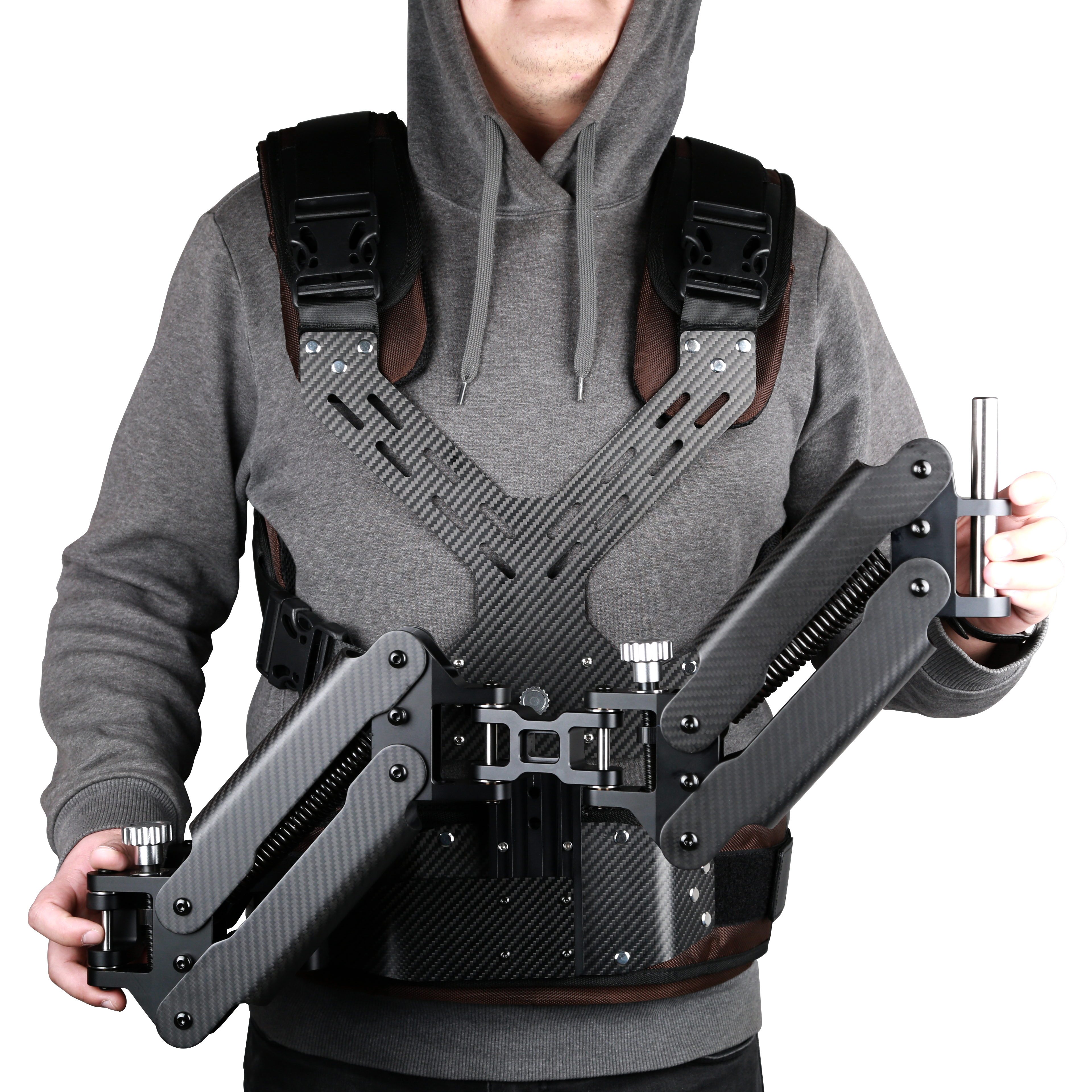 Carbon Fiber Steadicam Camera Vest with dual Arm