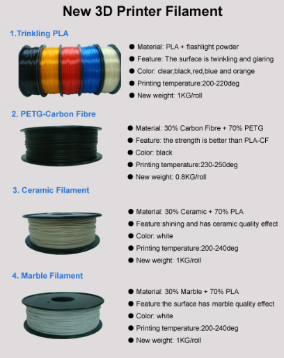 3D printing Filament Ceramic filament 3.0mm