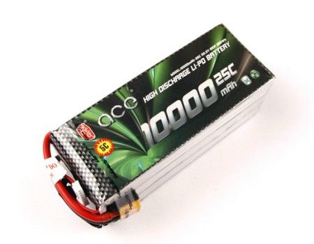 ACE 10000mAh 22.2V 25C Battery For RC Multicopter ACE106S
