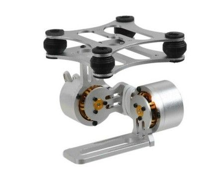 2-Axis Aluminum Brushless Camera Gimbal Gopro3