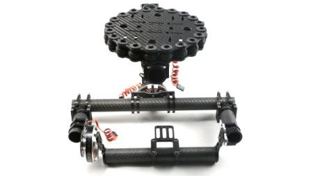 FC Carbon Fiber Two-axis Brushless Gimbal Camera Mount for 5D3 F