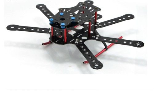 250mm 6-Axis Fiberglass FPV Hexacopter Frame Kit w/Landin