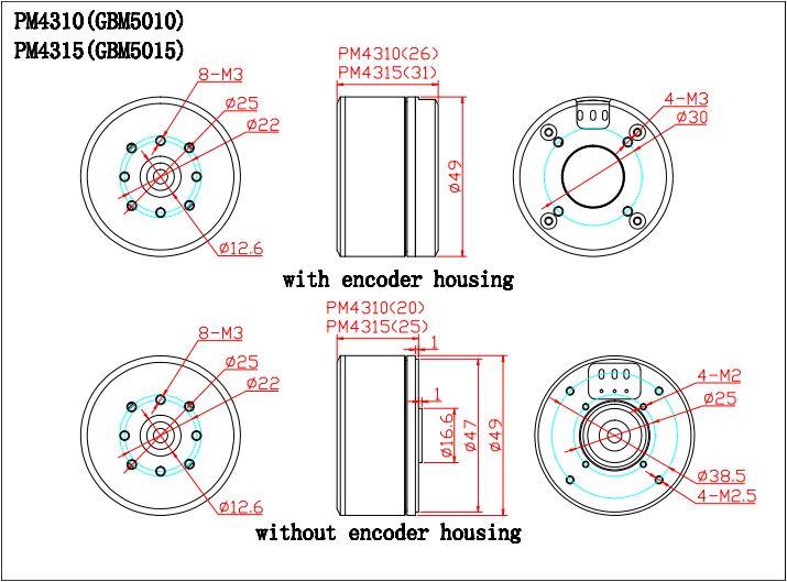 BGC Encoder Motor PM4315 AS5048A