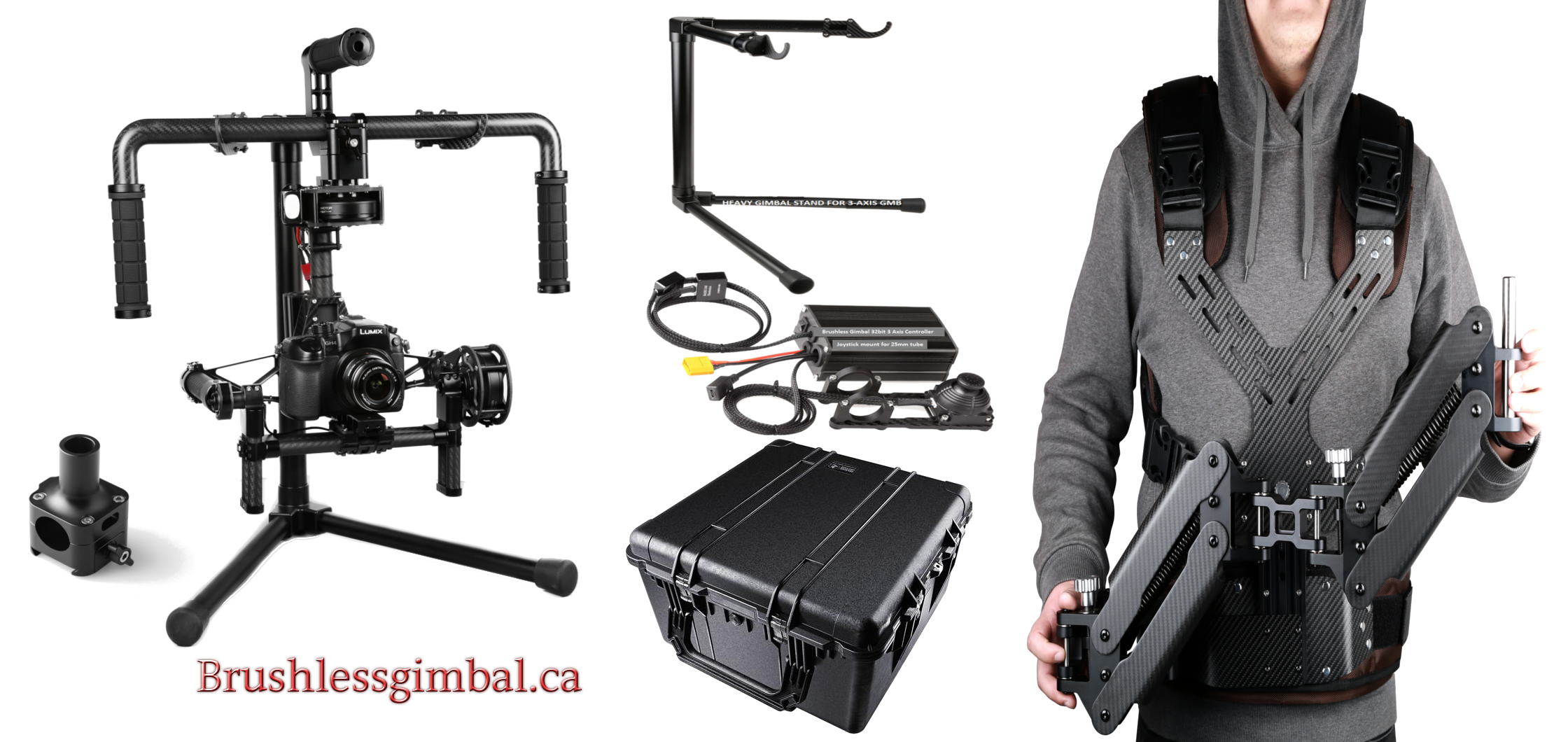 3 axis BGC Gimbal system & Steady cam Vest kit with carry case